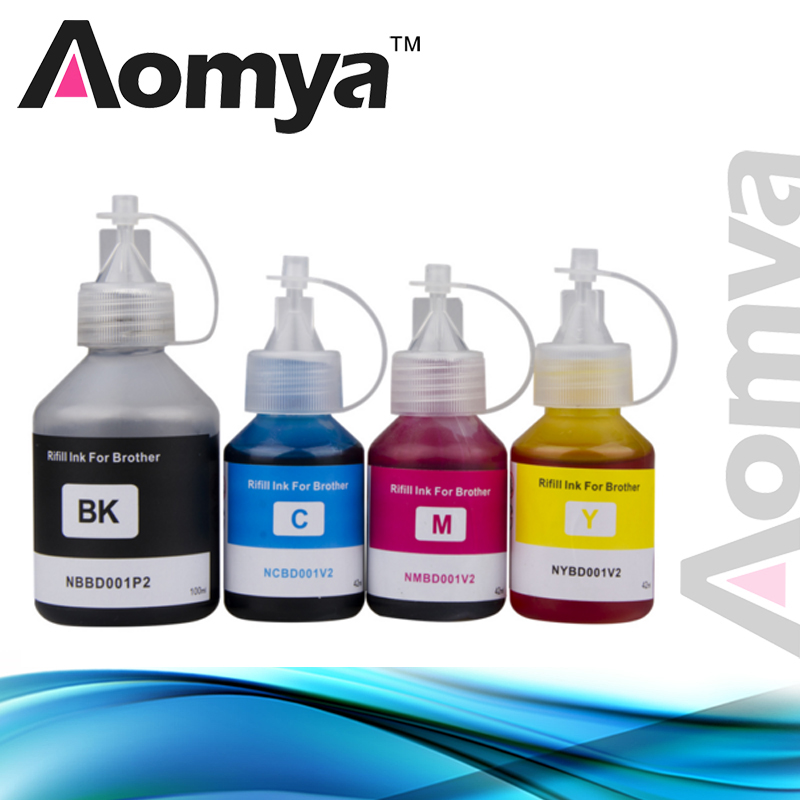 Aomya Specialized Refill Ink Kit 4 Colors Compatible For Brother Inkjet Printer DCP-T300 DCP T300 500W 700W MFC-T800W MFC T800W