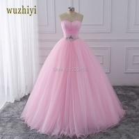 Pink Ball Gown Quinceanera Dresses 2016 Beaded Vestidos De 15 Anos Cheap Sweet 16 Dresses Debutante