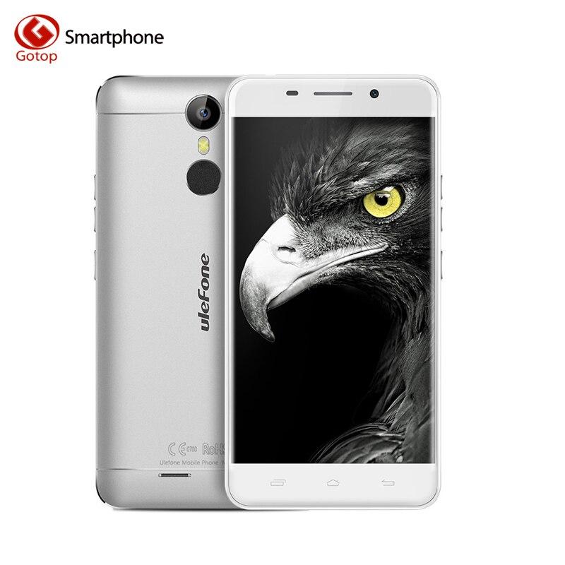 Цена за Ulefone Металла 5.0 дюймов Смартфон Android 6.0 MTK6753 Octa Ядро 4 Г LTE Мобильный Телефон 3 ГБ RAM 16 ГБ ROM 13MP Fingerptint Сотовый Телефон