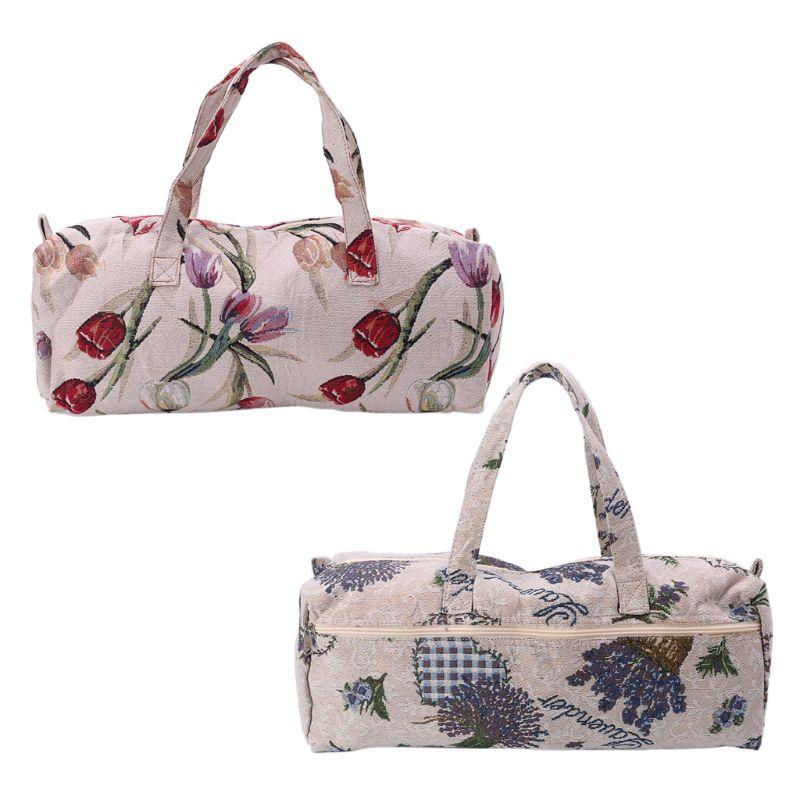 1PC Portable Sewing Tools Knitting Needles Storage Bag Flower Pattern DIY Thread Yarn Crochet Organizer Bag