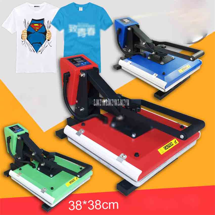 CUYI-G3838 Flat High Pressure Heat Press Machine 38*38 Thermal Transfer Machine T-shirt Hot Stamping Press Iron Drilling Machine cheap manual swing away heat press machine for flatbed print 38 38cm