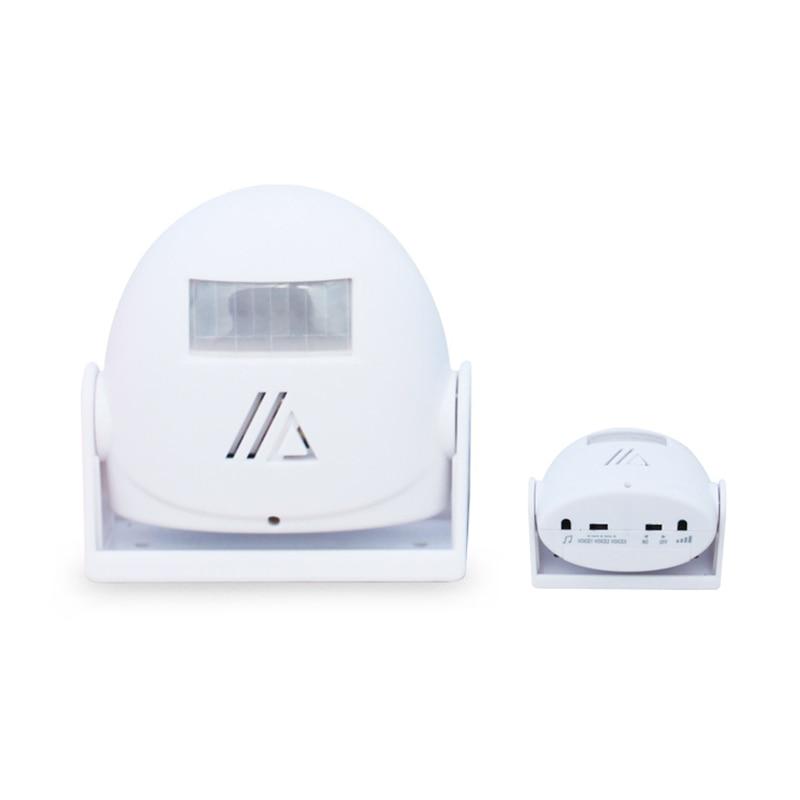 Sensing doorbell Welcome Alarm Doorbell Infrared Sensor Body Induction&Direction Recognition Random color 8.5cmx8.5cmx3.5cm