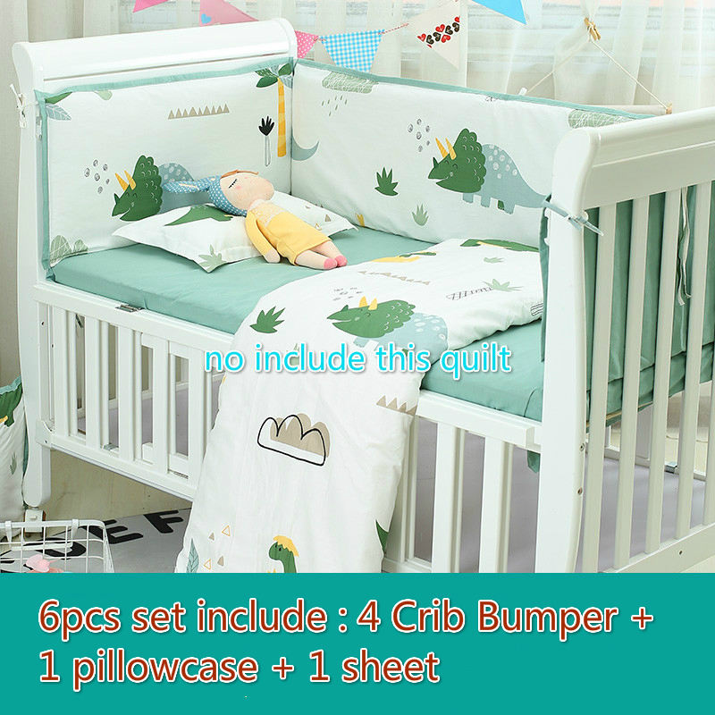 6pcs Baby Bedding Set Bumpers Cartoon Pattern Baby Bed Set Crib Pillowcase Bed Flat Sheet Crib Infant Bedding for newborn baby6pcs Baby Bedding Set Bumpers Cartoon Pattern Baby Bed Set Crib Pillowcase Bed Flat Sheet Crib Infant Bedding for newborn baby