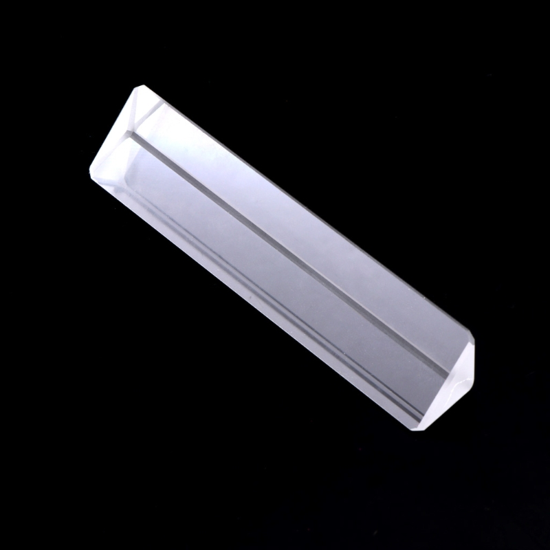 K9 Optical Glass Right Angle Reflecting Triangular Prism For Teaching Light Spectrum