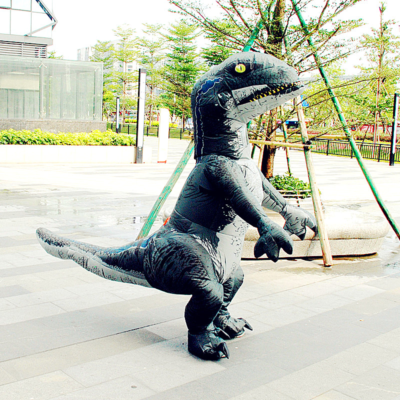 Adult Dinosaur Inflatable Christmas Costume Cosplay Cartoon Animal Dinosaur Jumpsuit Halloween Costume for Men Women L2651 led телевизор bbk 50lem 1026 fts2c