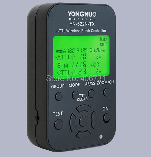 YONGNUO YN 622N TX LCD Wireless iTTL Flash Controller Trigger for Nikon D300 D200 D700 D2X