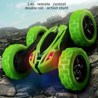 Remote Control Cars Stunt Rc Car High Speed Flashing 3D Flip Green & Blue Carro Controle Remoto Toys For Children
