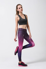 Starry Sky Digitally Print Leggings Active Fitness Yoga Pants for Ladies Sexy Skintight Stretchy Leggings Women Gym Clothing