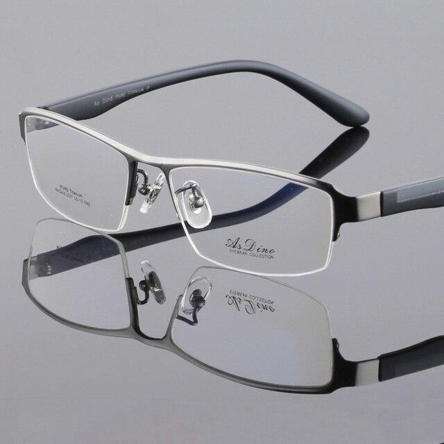 64f0417d98 Vazrobe Hombres Gafas de Titanio Marco Semi-Sin Montura Gafas de Marco para  Hombre Miopía