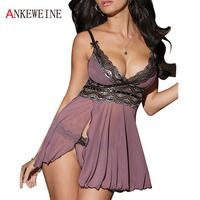Women S Mauve Lace Sex Products Exotic Apparel Baby Doll Dress Nightwear Sexy Lingerie Costumes Sleepwear