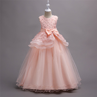 New Teenage Girls Dresses Kids Princess Lace Gowns Girls Dresses Children 5 6 7 8 9 10 11 12 13 14 15 16 Years Old Party Dress