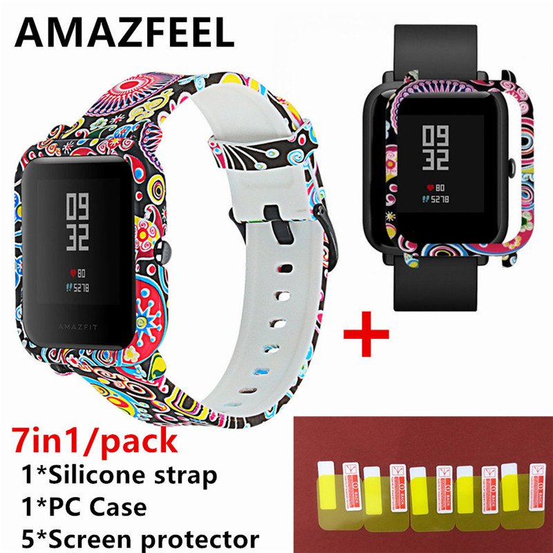 Screen-Protector Watch Strap Smart-Watch-Accessories Amazfit Bip Xiaomi Soft-Silicone