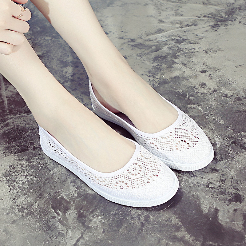 BAICLOTHING Women Floral Breathable Mesh Shoes