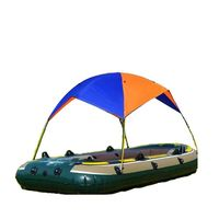 Portable Inflatable Fishing Sun Shade Rain Canopy Sailboat Awning Top Boat Shelter Kayak Kit Accessories