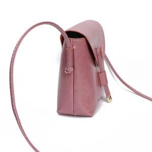 Image 3 - Borsa a tracolla da donna Zency stile semplice 100% borsa a tracolla piccola in vera pelle con patta piccola borsa a tracolla marrone nera