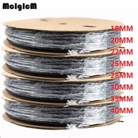 1reel Heat Shrink Tube 18MM 20MM 22MM 25MM 28MM 30MM 35MM 40MM Heat Shrink Tubing Shrinkable Wrap Wire Cable Sleeve Kit