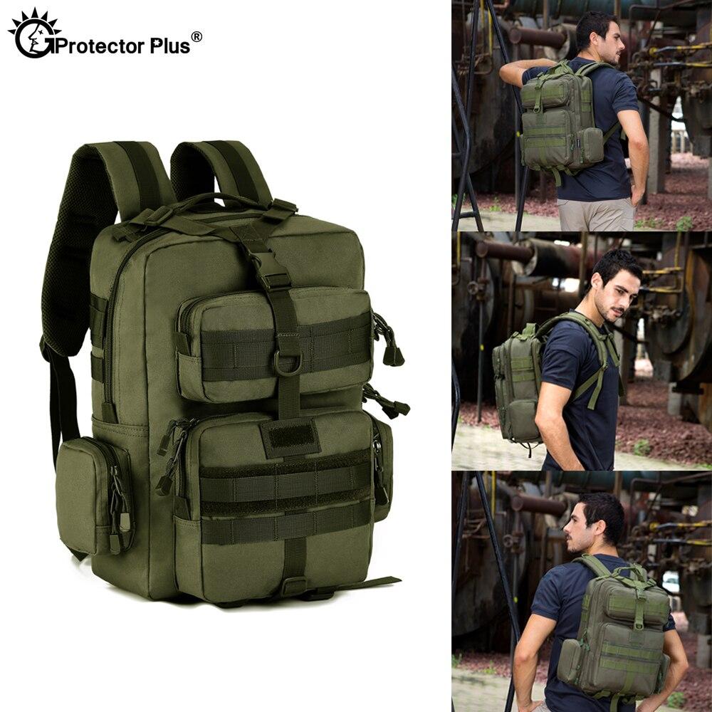Protecteur PLUS militaire MOLLE sac à dos tactique pistolet sac désert patrouille sac à dos Camo chasse de haute qualité en plein air voyage armée - 5
