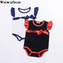 Waiwaibear Baby Infant Rompers For Girls Summer Jumpsuits Toddler Cotton  Hot Sale Clothing TN9