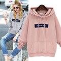 Letters Casual Pink Womens Hoodies Jacket Sweatshirt Harajuku 3d Pullover Hoodie Tops Kpop Clothes Sudaderas Mujer