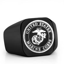 Stainless Steel Ring Men US Army Marine Corps Titanium Punk Biker Ring Charm Jewelry
