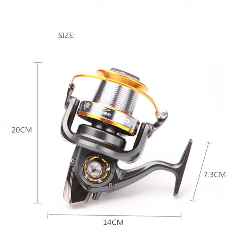 Image 5 - 9000 Series 12+1 Ball Bearings full Metal Spool Jigging Trolling Long Shot Casting Spinning Big Sea Left / right Fishing Reel-in Fishing Reels from Sports & Entertainment
