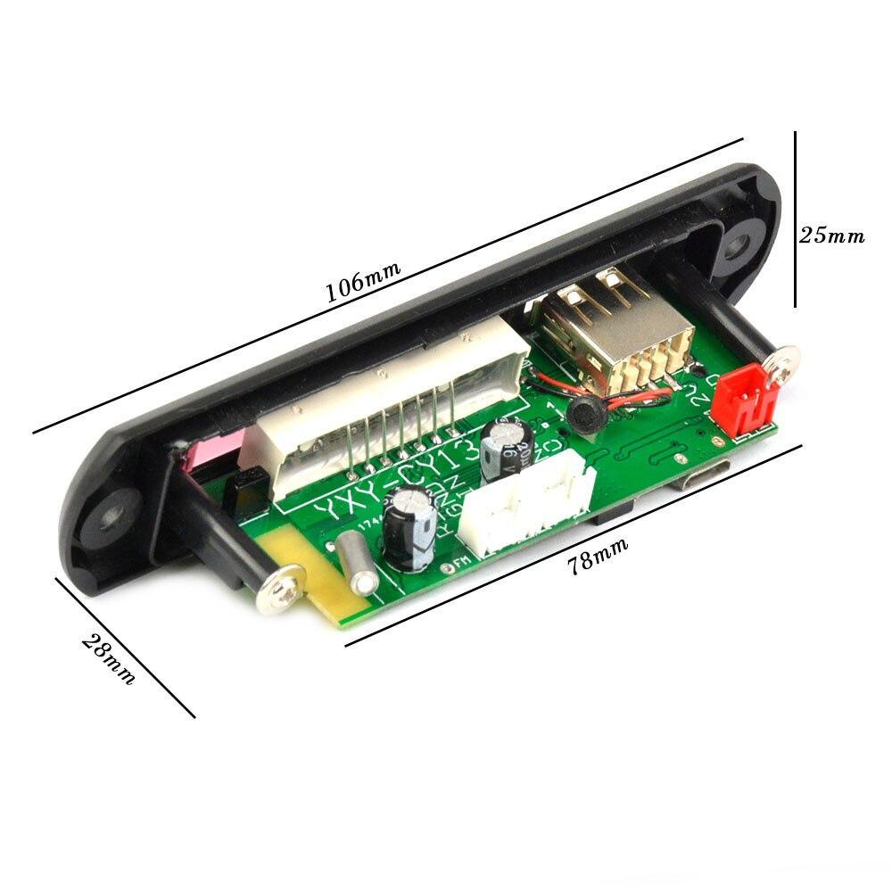 Aiyima DC12V/5V MP3 Decoder Board Bluetooth 4.2 Audio Decoding APE FLAC MP3 WMA WAV TF USB Sound Aux Microphone DIY Module