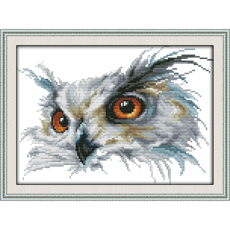 Everlasting Love Christmas Owl  Chinese Cross Stitch Kits Ecological Cotton 11CT 14CT Stamped New Year New Store Sales Promotion