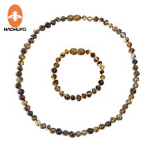 ФОТО haohupo 100% natural amber stone genuine baltic baby teething ambar necklace&bracelet natural jewelry sets for baby & adult