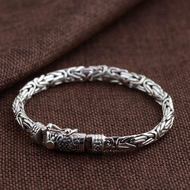 62a3492af6f1 Для мужчин серебряный браслет, безопасности узор, индивидуальный мужской  серебряный браслет