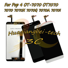 6.0 جديد ل الكاتيل البوب 4 OT 7070 OT7070 7070 7070X 7070Q 7070A 7070I كامل شاشة الكريستال السائل + مجموعة المحولات الرقمية لشاشة تعمل بلمس