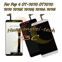 6.0 Yeni Alcatel Pop 4 Için OT 7070 OT7070 7070 7070X 7070Q 7070A 7070I Tam lcd ekran + dokunmatik ekranlı sayısallaştırıcı grup