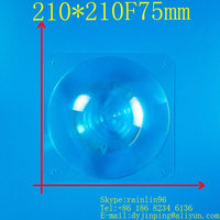 Solar concentrator lens 210*210mm focal length 75mm high power condenser temperatures Easy to ignite wood free shipping