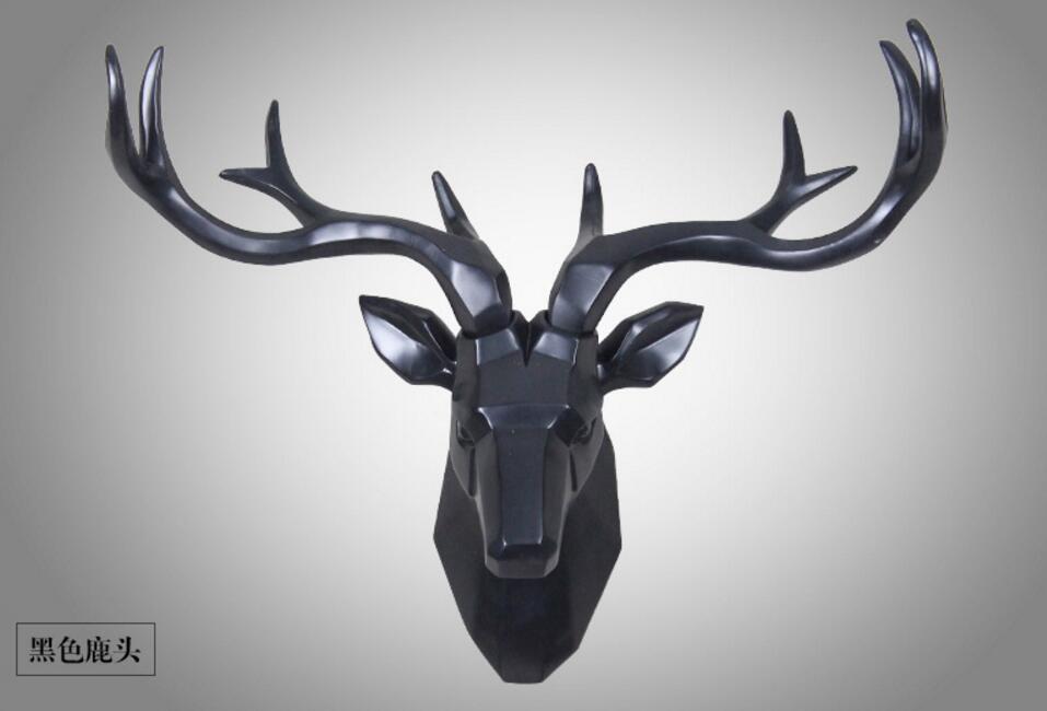 Décoration de la maison accessoires Géométrique deer head statue décorations sculpture estatuas decorativas par casa cadeau décor à la maison