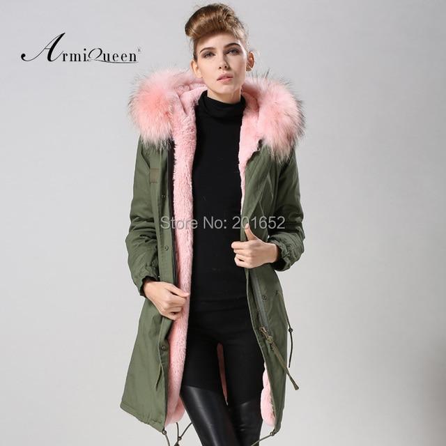 Jacke mit rosa fell kapuze