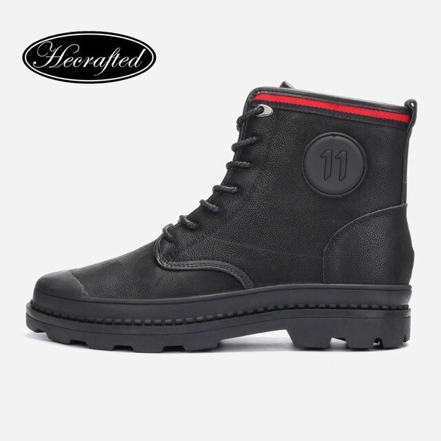 Boyutu 38 ~ 47 erkekler Kış kar botları hakiki deri sıcak kovboy moda el yapımı kış ayakkabı # 6188JM