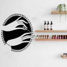 Nail Stylist Wall Decal Beauty Salon Decor Nail Art Manicure Vinyl Wall Sticker Nails Design Wall Mural Beauty Hand Decal AY1288