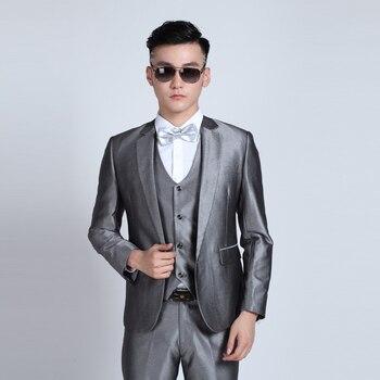 (Jacket + Pants) Fashion Men Business Suits Slim Men's Suits Brand Clothing Wedding Suits For Men Latest Coat Pant Designs 4