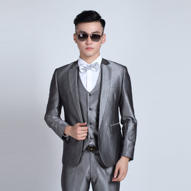 (Jacket + Pants) Fashion Men Business Suits Slim Men's Suits Brand Clothing Wedding Suits For Men Latest Coat Pant Designs 4