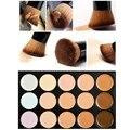 Kits de Cosméticos de Maquillaje profesional 15 Colores Corrector Contorno Paleta + Agua Esponja Puff + Colorete Herramienta Pincel de Maquillaje de Sombra de Ojos