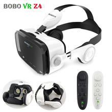 Original BOBO VR Z4 Leather 3D Cardboard Helmet Virtual Reality Goggles VR Glasses Headset Earphone Box 2 for 4-6′ SmartPhones