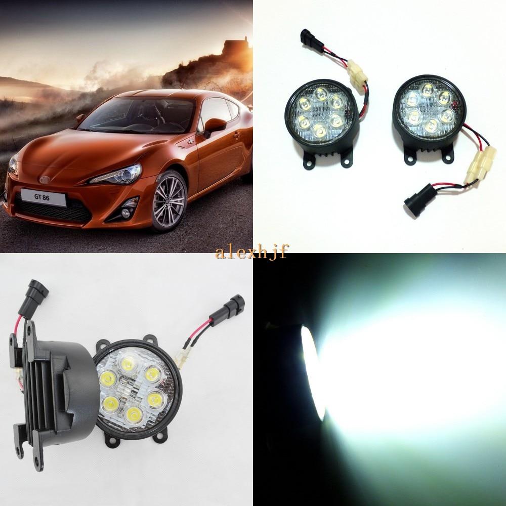 July King 18W 6LEDs H11 LED Fog Lamp Assembly Case for Toyota GT 86 2012~ON, 6500K 1260LM LED Daytime Running Lights