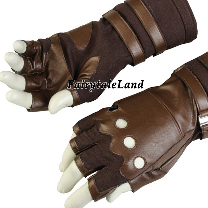 Captain America Gloves Avengers Infinity War Cosplay Accessories leather cosplay gloves Captain America cycling gloves