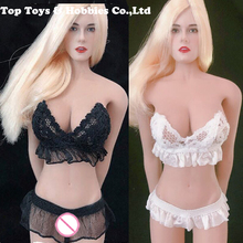 white/black 1/6 Sexy Lace underwear set swimsuit Clothes Model Fit 12 big bust Female seamless Body without body no head