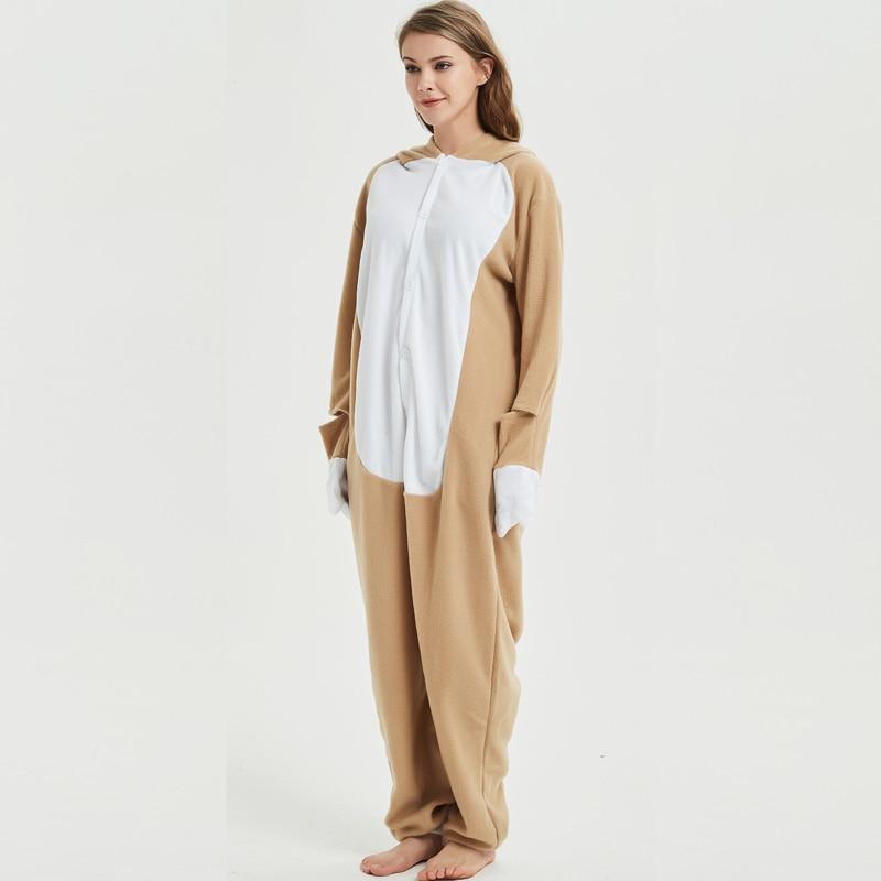 Loose Cartoon Character Sloth Onesies Adult Pajamas Polar Fleece Kigurumi For Halloween Onepiece Winter Jumpsuit Pijama Cosplay (2)
