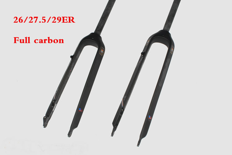 """New 26 27.5 29/"""" inch Mountain bike full carbon bicycle disc brake front fork MTB"""