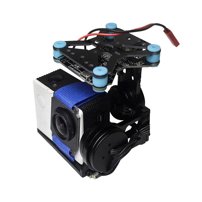 1Set Ultralight 2-axis Mini Gimbal Kit FPV Aerial Photography PTZ 108G Metal 2206/100T Brushless GOPRO3/GOPRO4 CNC Gimbals good shop 108g