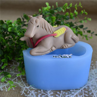 Nicole R1604 Custom 3D Horse Shaped Resin Clay Crafts Molds Silicone Soap Moulds