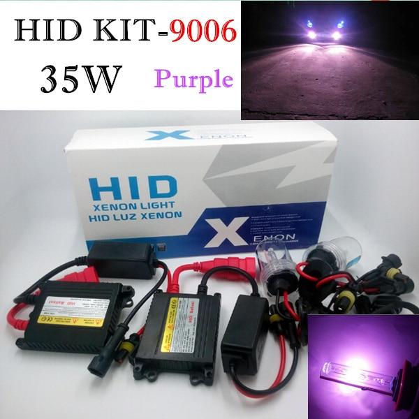 Slim Ballast Hid Kit 9006 Xenon Low Beam HB4 Purple Headlight Foglight Daytime Running Light 35w Auto Car Replacement Lamp