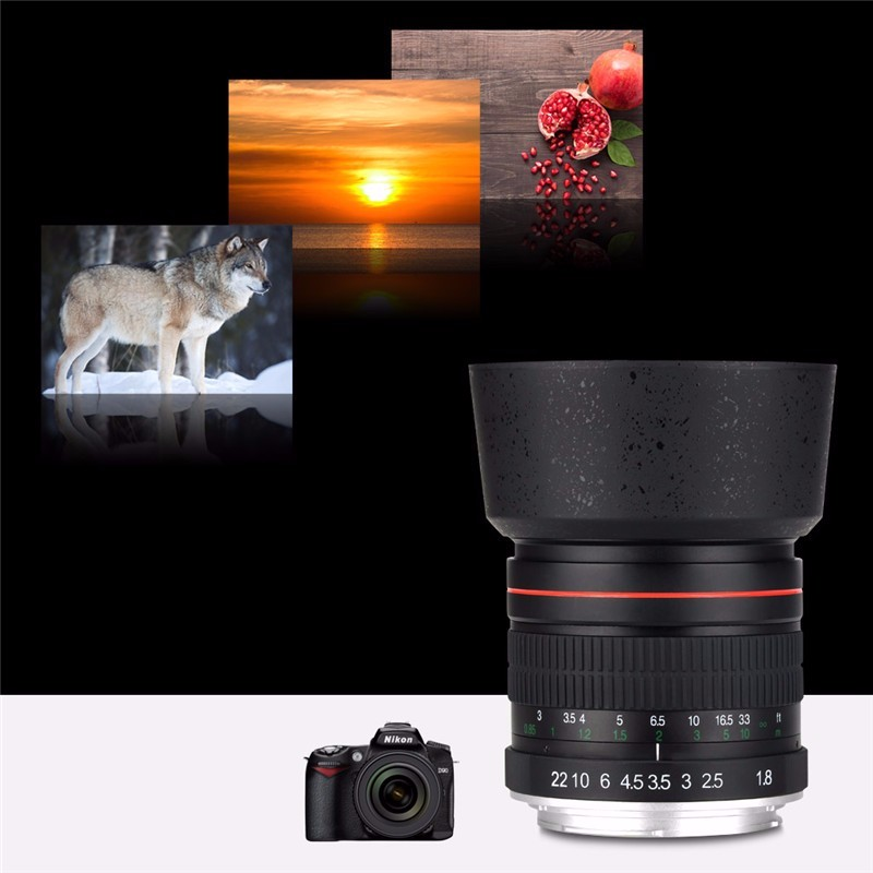 85mm F/1.8 Medium Telephoto Portrait Prime Manual Focus Camera Lens for Canon 10D 760D 700D 600D 70D 60D 7D 6D 5D II III DSLR 1