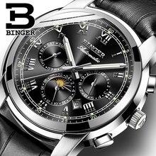 Switzerland Automatic Mechanical Watch Men Binger Luxury Brand Mens Watches Sapphire clock Waterproof relogio masculino B1178 12